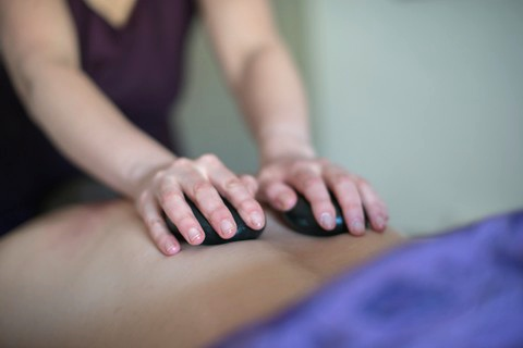Hot Stone Back Massage in the Lake District